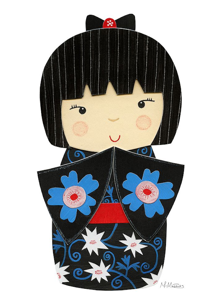 Kimono clipart japanese doll Best KOKESHI and KOKESHI 85
