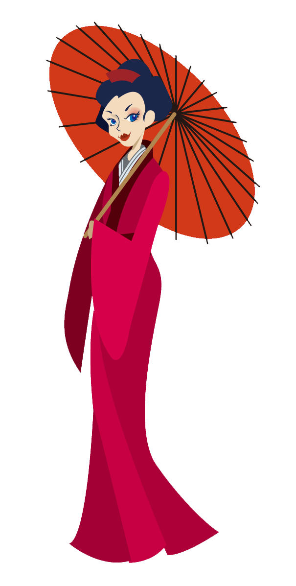 Geisha clipart japanese person Images Art Clipart Download Free