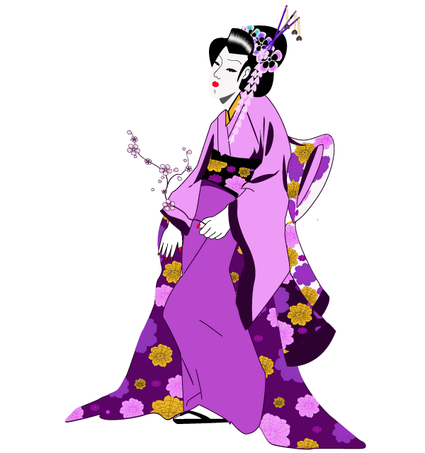 Traditional clipart geisha Vectors Japanese Pinterest Geisha Girl