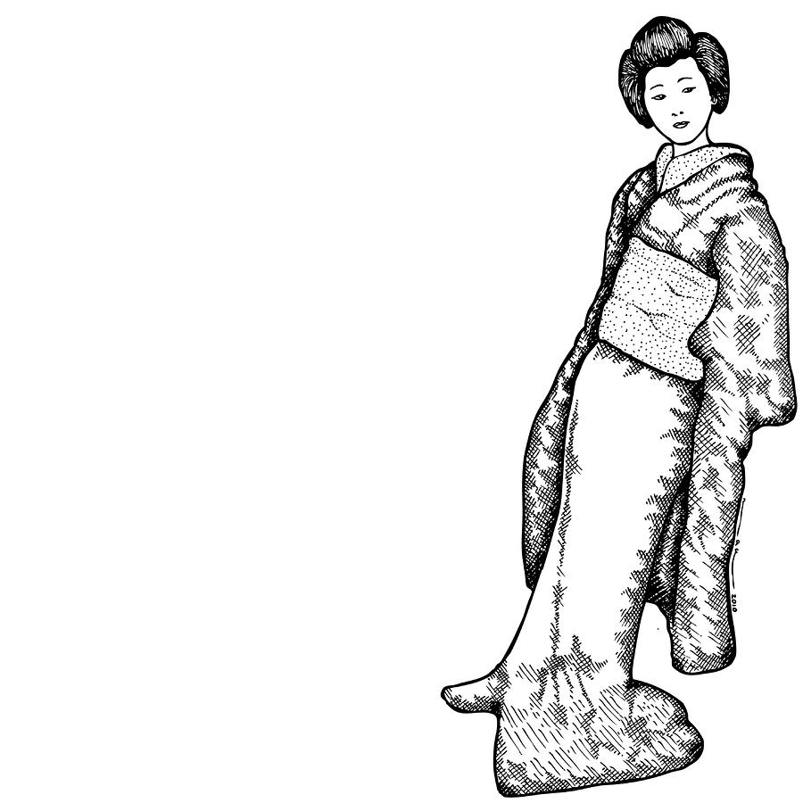 Geisha clipart japanese person And Japanese drawing Women Woman