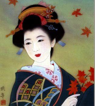 Geisha clipart japanese traditional art Traditional Geisha traditional japanese Art
