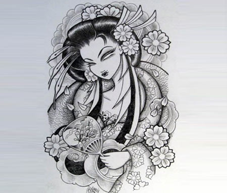 Geisha clipart japanese traditional art  Sketches Geisha and Geisha