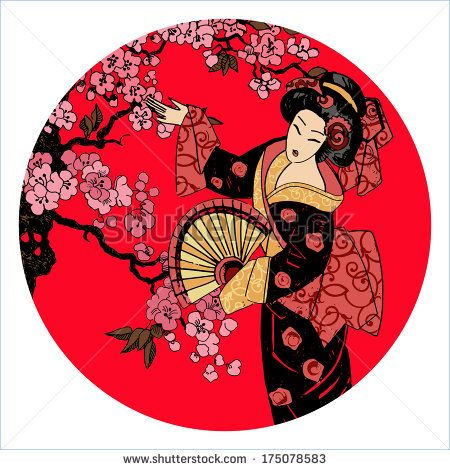 Geisha clipart japanese traditional art Images Geishes/Ilustration Drawings on best