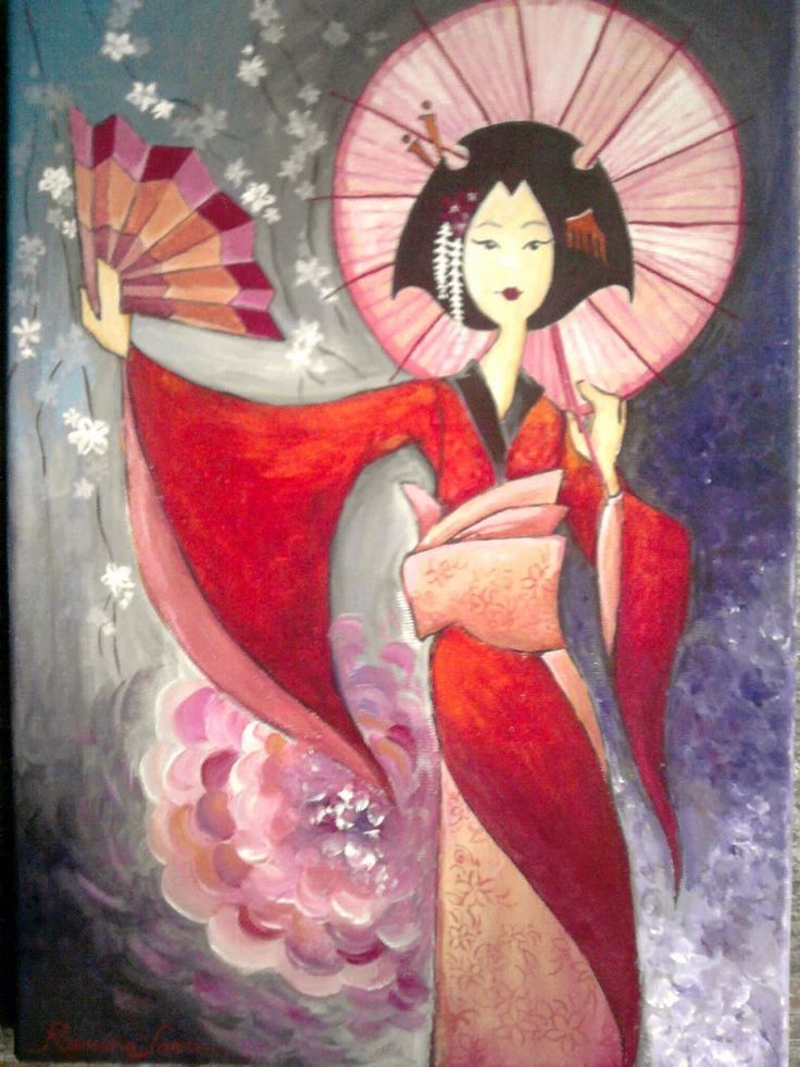 Geisha clipart japanese traditional art Cm 25x35 Projects geisha geisha