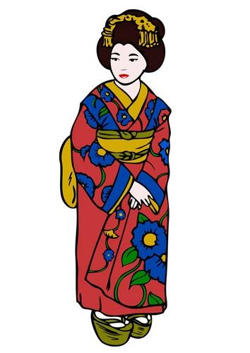 Geisha clipart kimono Image best on 121 art