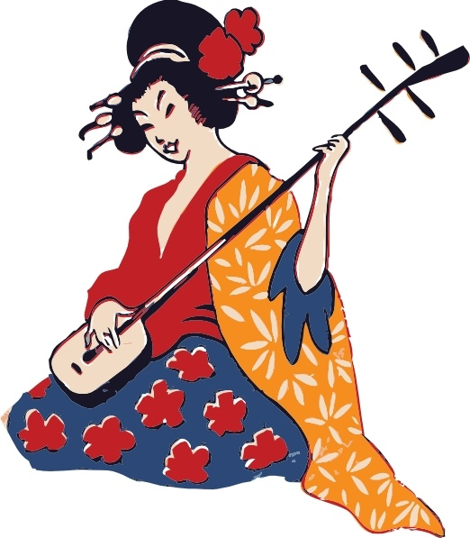 Geisha clipart kimono (33 art vector) clip Playing