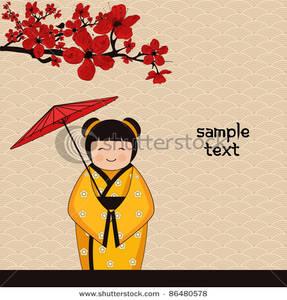 Geisha clipart kimono Geisha Background a a In