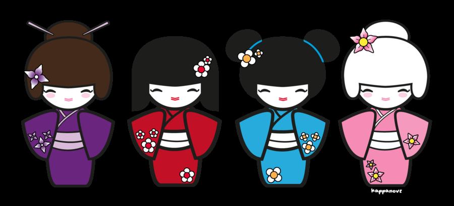 Kimono clipart kokeshi Kokeshi scrapbooking Infantil par clipart