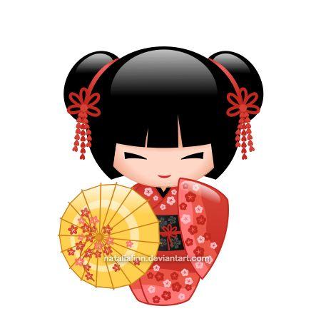 Kimono clipart kokeshi Ideas Best on Kokeshi tattoo
