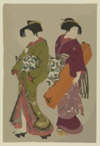 Geisha clipart public domain Koto Art Servant Servant com