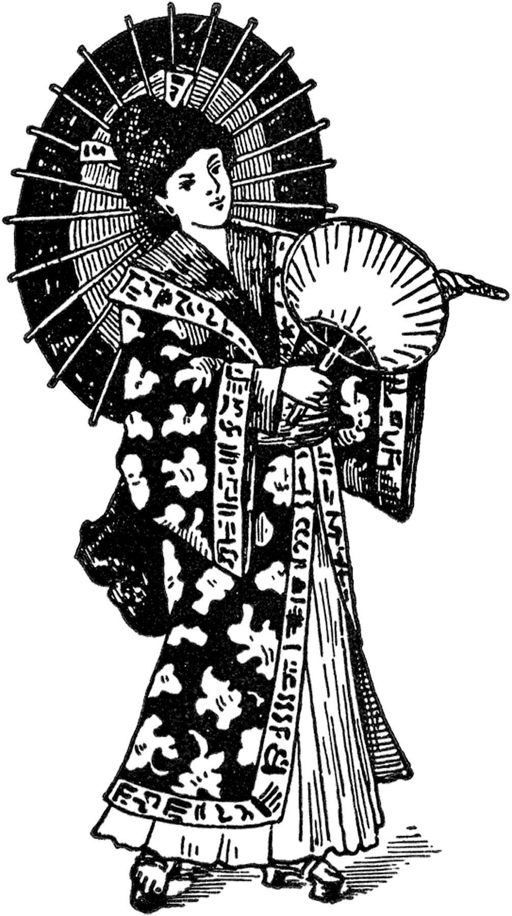 Geisha clipart public domain Fairy Vintage Geisha Geisha The