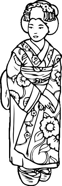 Geisha clipart public domain  Clker art as: vector