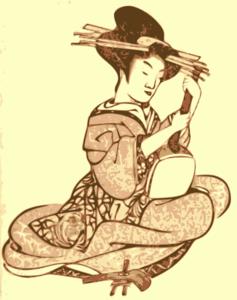 Geisha clipart public domain Com Art Woman Clker clip