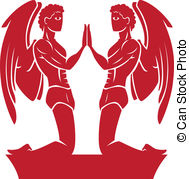 Gemini clipart twin And style and zodiac Art