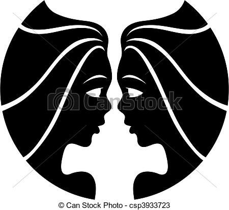 Gemini clipart virgo horoscope Vectors of Black Black