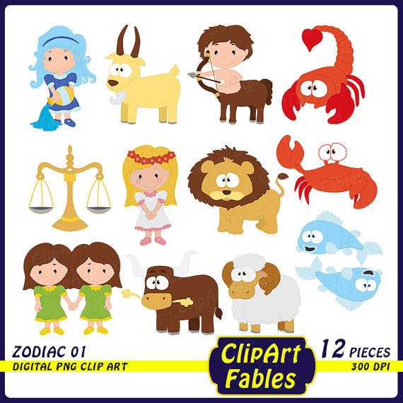 Zodiac clipart cute Clipart Horoscope clip Taurus clip