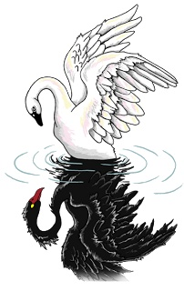 Gemini clipart bipolar Tumblr swan swan Tatoo and