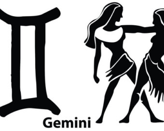 Gemini clipart birth Astrology The Sign Etsy tattoo