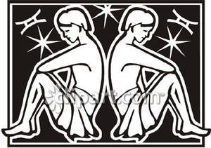 Gemini clipart black and white Sign Free Twins Picture Sign