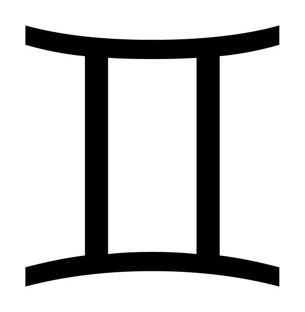 Gemini clipart symbol Third en 25+ Zodiac (Gem