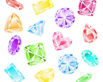 Gems clipart shaped object Gems clipart Jewel 80% Etsy