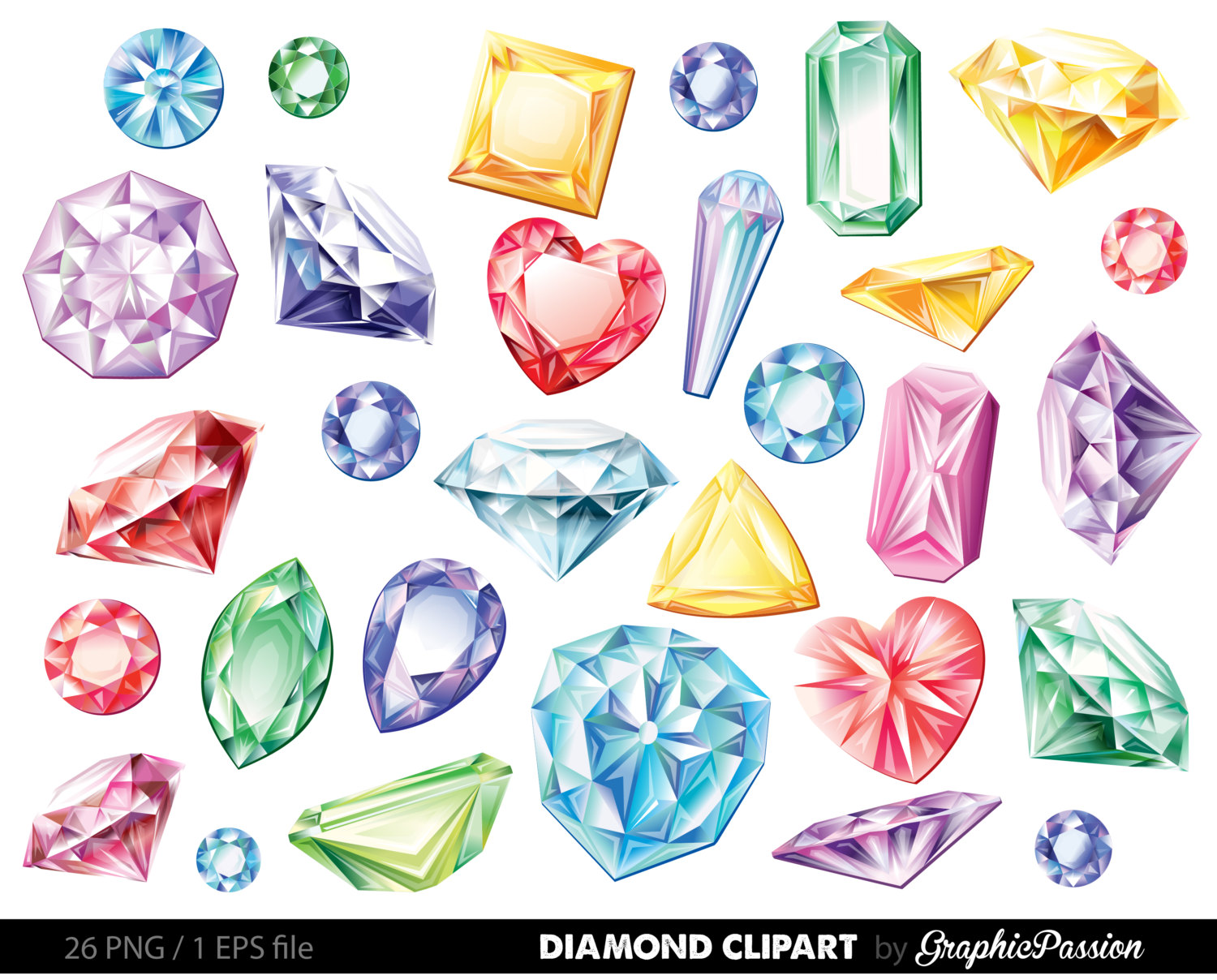 Gems clipart shaped object  Clipart Vector Diamonds Clip