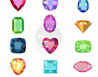 Gems clipart shaped object Gems clipart clipart Gem Etsy