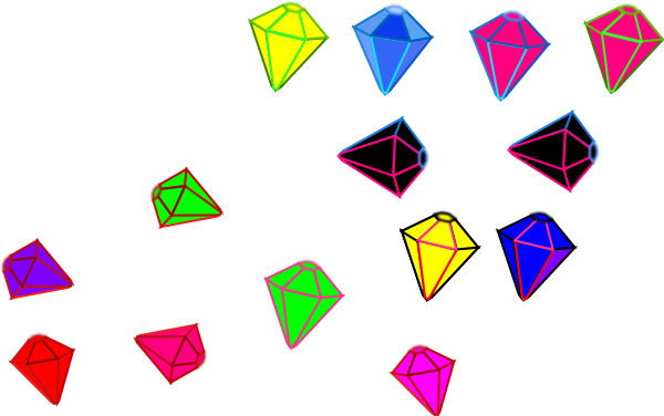 Gems clipart shaped object Vector clip at Download art