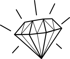 Sketch clipart diamond outline White clip black clipart Art