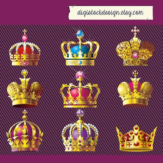 Gems clipart crown jewels CROWNS PNG of Set Golden
