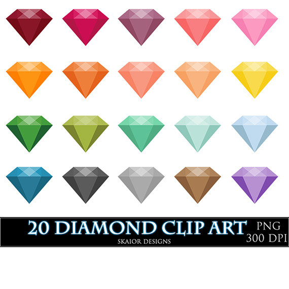 Gems clipart diamond Clipart Digital Vector Invitations Gems