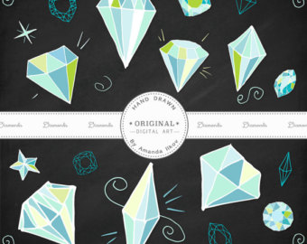 Gems clipart diamond Diamond Diamond Drawn Clip Diamond