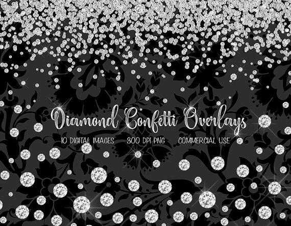 Rhinestone clipart diamond border Jewels  Confetti clip clip