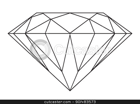 Gems clipart diamond outline #3