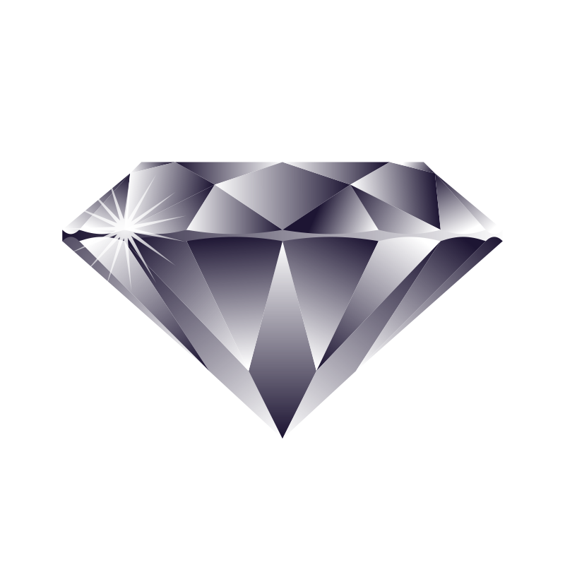 Gems clipart diamond outline #13