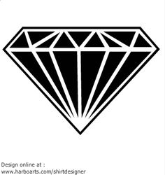Gems clipart diamond outline #14