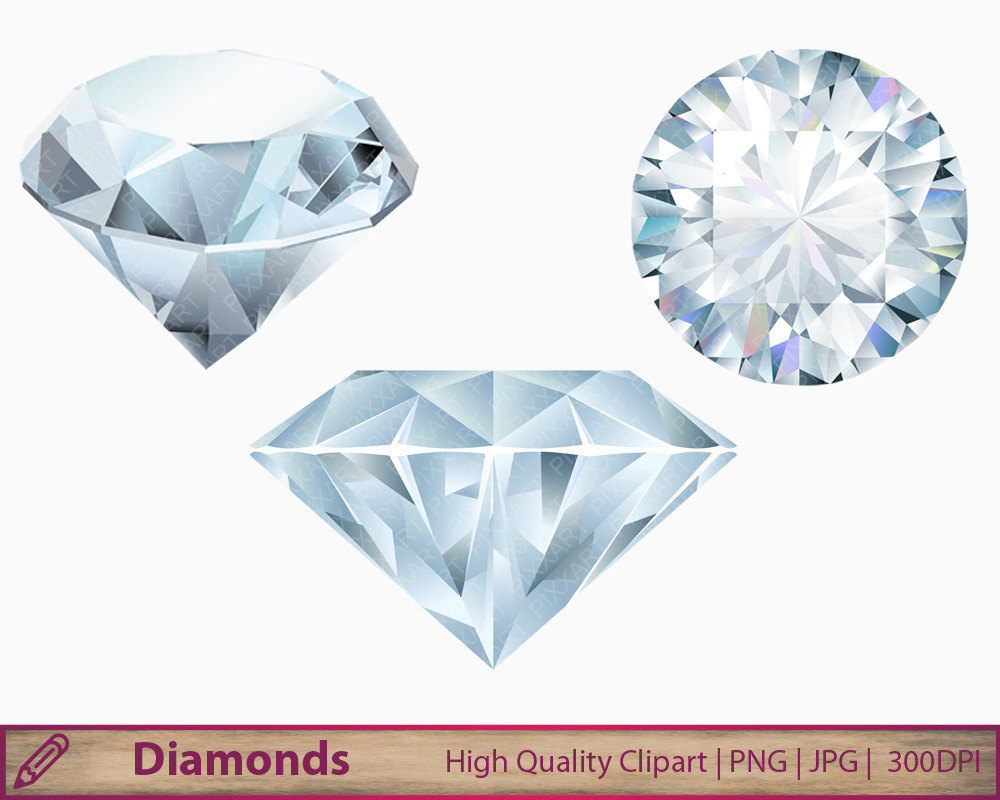 Diamond clipart crystal Jewelry graphics Etsy clip crystal