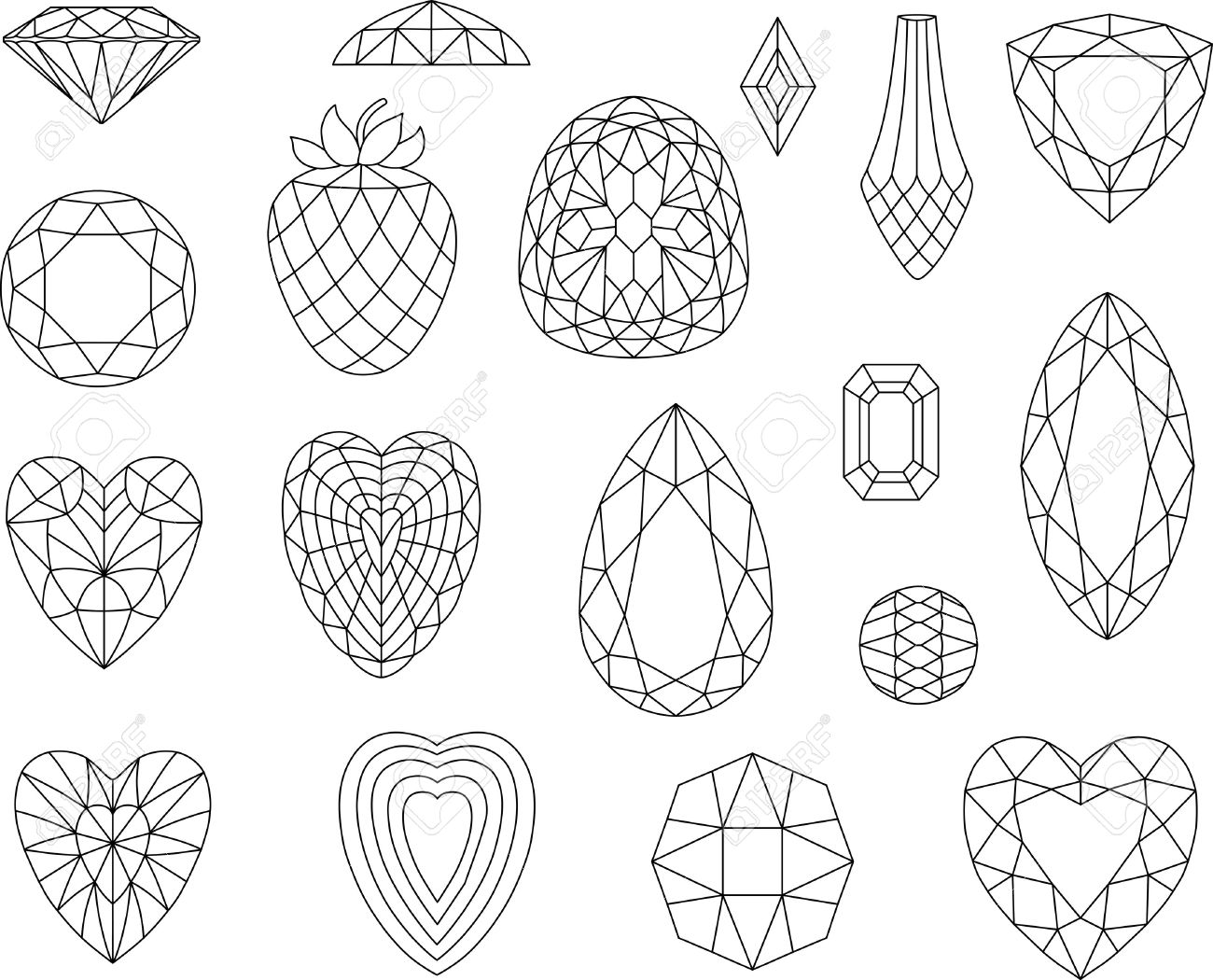 Gems clipart diamond shape Google Cerca Pinterest con con