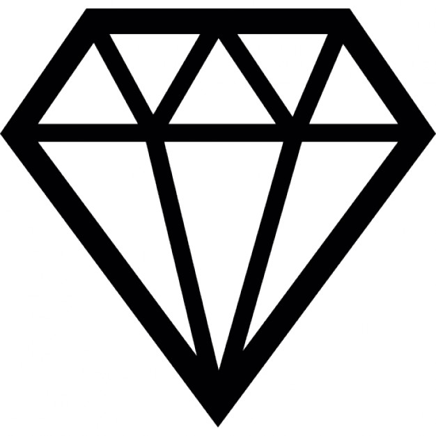 Gems clipart diamond shape +7 in format icons PNG