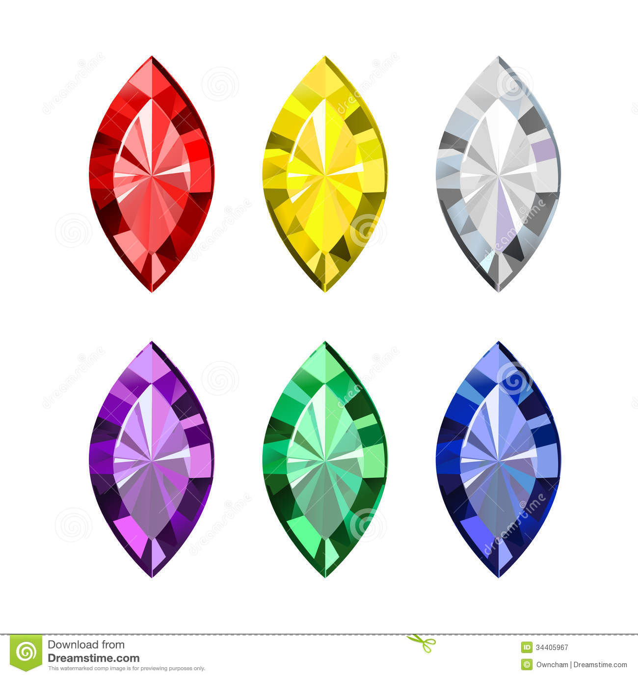 Diamond clipart colorful Gems Gems Download #14 Download