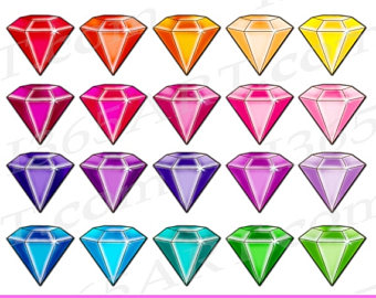 Gems clipart gemstone Etsy Jewel Gem Gemstone Digital