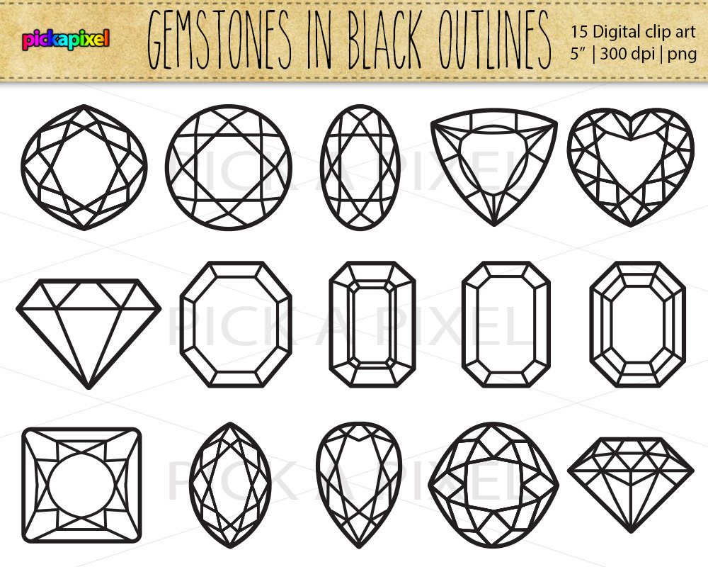 Gems clipart gemstone Gemstones Etsy clipart collection Clipart