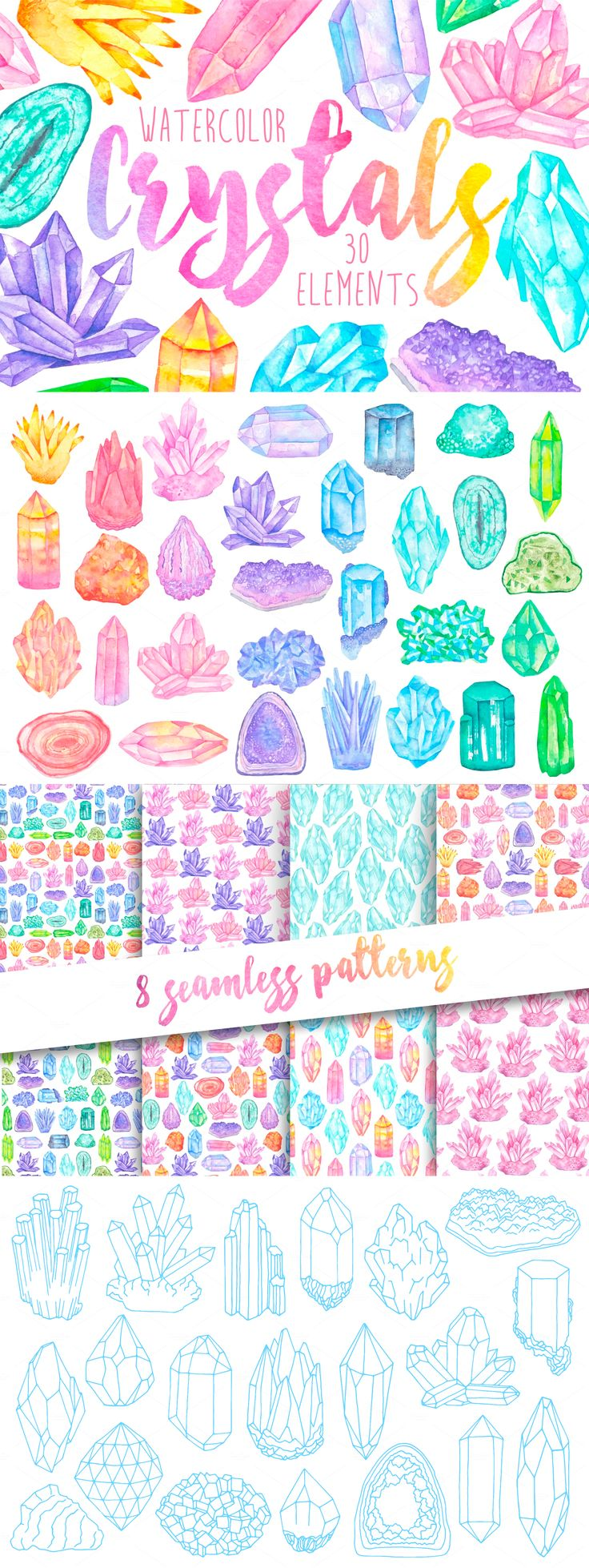 Crystals clipart hard object Hard/soft on 26 Pinterest Watercolor