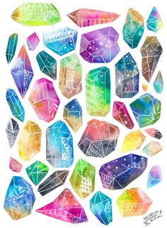 Crystals clipart hard object Gems gems gemstones cut anavicky