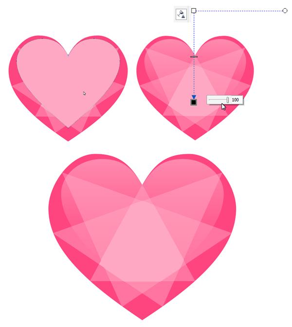 Gems clipart heart Seamless in CorelDRAW highlight a