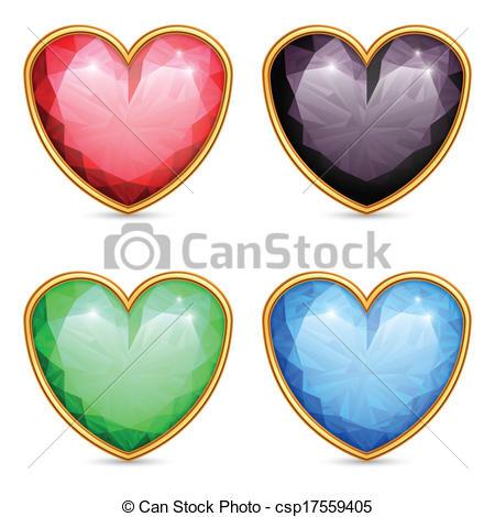 Gems clipart heart Gems a  gems Set
