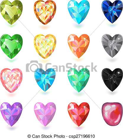 Gems clipart heart Of  cut heart of
