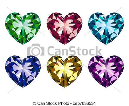 Gems clipart heart Heart  gems gems Heart