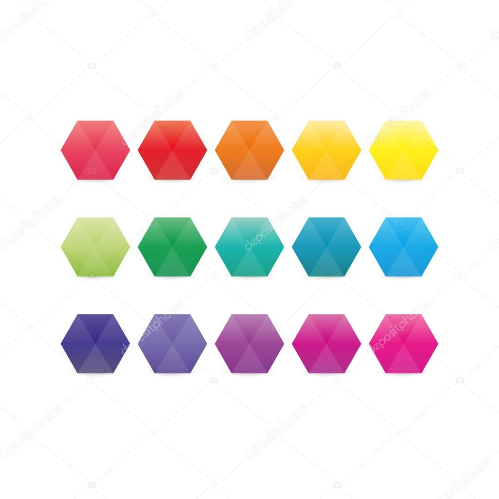 Gems clipart hexagon Colored of colored geometric your