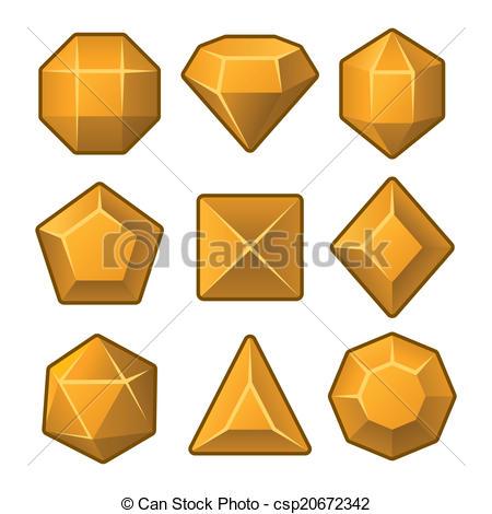 Gems clipart hexagon Games for Gems Match3 Set